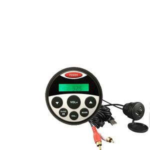 Waterproof MP3 / FM / AM Guage Size Stereo Kit